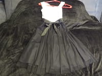BEAUTIFUL BLACK AND WHITE SHEER ALL OCASSION DRESS SIZE 7. ASKING $20.00  Hagerstown