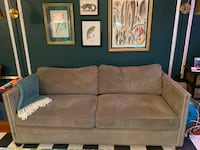 Crate & Barrel Dryden Sleeper Sofa WOODSIDE