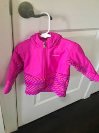 pink Columbia zip-up hooded jacket