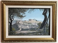 Parthenon Oil Painting Print by Lorne Chabot