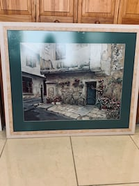 brown wooden framed painting of white and brown house Seminole, 33777