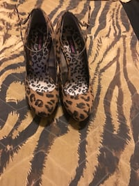 Pair of leopard print boots