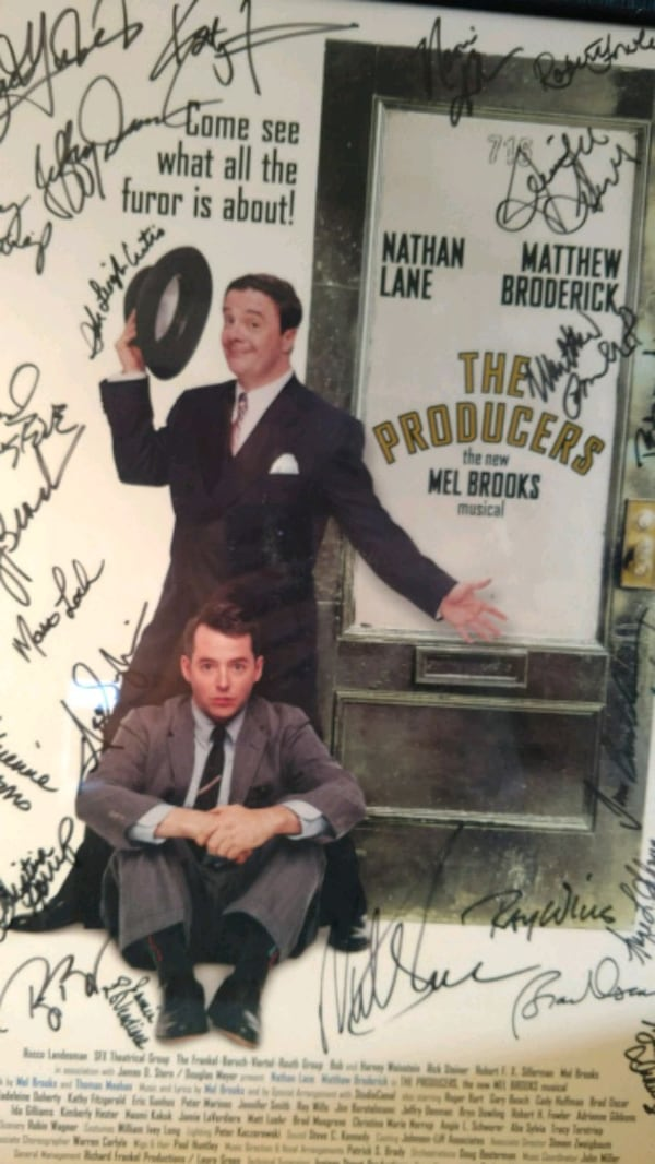 Signed complete cast,The  Producers, on Broadway 8a9e5c3b-0f8c-4198-9591-33c398551067