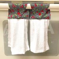 Two (2) cherries on gingham kitchen towels - white Tampa, 33612