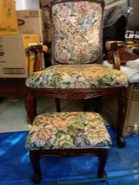 Antique armchair and ottoman. Franklin, 45005