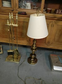 Solid heavy brass Table lamp & Chimney Set