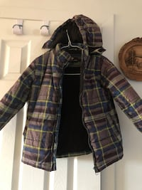 Brown and black plaid zip-up hoodie size 6 Laval, H7W 1T6