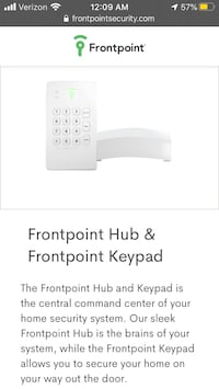 FrontPoint Security System & Sensors
