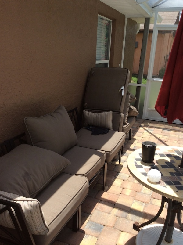 Brand new Patio furniture set by Mainstays Sandhill 7-Piece Outdoor Sofa  Sectional Set.