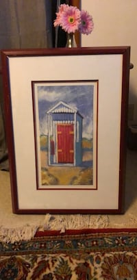 brown wooden framed painting of house Middletown, 10940