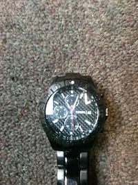 round black chronograph watch with black link bracelet Chattanooga, 37412