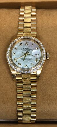 ROLEX Ladies President Datejust Mother of Pearl Dial and Diamond Bezel Costa Mesa, 92627