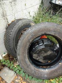 two black auto wheel with tires Vienna, 22182