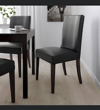 Dining leather chairs dark brown like new great for kitchen 2 availabl Sunnyvale, 94086