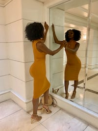 Yellow Ribbed Maxi Dress Las Vegas, 89119