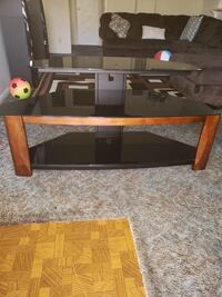 Black and brown wooden tv stand Anaheim, 92804