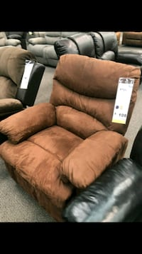 brown suede 3-seat recliner sofa Temple City, 91780