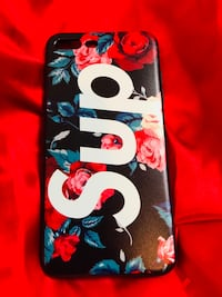 Black and floral supreme case for iPhone 7 Plus & 8 Plus Case