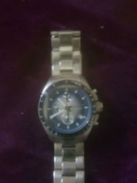 round silver chronograph watch with link bracelet Rancho Cucamonga, 91739
