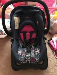 Blue / Pink car seat & base  HOUSTON