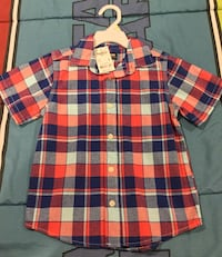 Boys 4T ~ OSHKOSH Button Up Short Sleeve Tee Shirt - NEW WITH TAGS  Pascoag, 02830