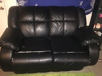 black leather 2-seat sofa Layton, 84041