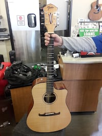 Mint condition acoustic electric fender guitar $450 firm