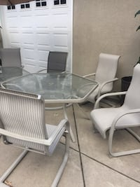Glass top table with chairs patio set Andover, 55304