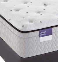 Sealy Crown Jewel Value Euro Pillowtop Plush Scallop Pearl Mattress MISSIONHILLS