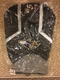 Small Ravens Dog Jacket Baltimore, 21224