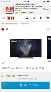 Brand New LG 55 inch OLED C7P Smart 4K HDR  New York, 11423