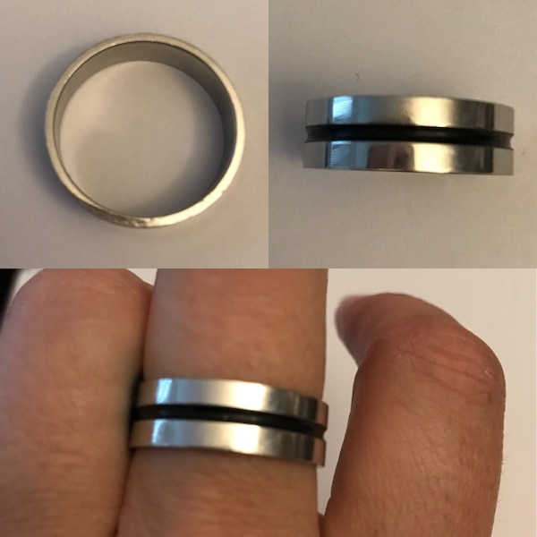 Men's size 11 stainless steel ring