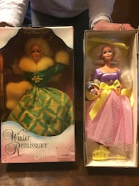 two assorted color Barbie dolls in boxes Norwich, 06360
