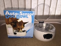 Auto sensor dog bowl opens automatically as your pet (cat or dog) approaches new Calgary, T3E 6L9