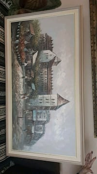 OIL CANVAS PAINTING WALL SIZE.