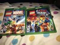 Two  lego video games and xbox one  game cases Maple Valley, 98038