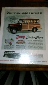 VINTAGE 1950S JEEP WILLYS ADVERTISEMENT PIECE  Chambersburg