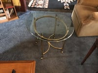 Brass glass top table  Hagerstown, 21742