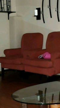 red suede sofa chair with ottoman Los Angeles, 91343