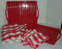 2 Red Barbeque Trays & Linens Exeter, 18643