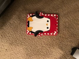 Pinguin red and back tablet case