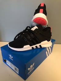 pair of black Adidas NMD shoes with box Richmond Hill, L4E 0C2