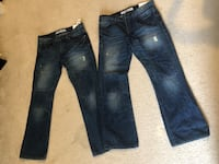 2 Pairs Of Rocco Express Jeans Size 32x30 Washington, 20020