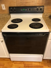 white and black 4-coil electric range oven Silver Spring, 20904