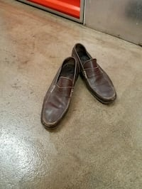 pair of dark brown ferragamo loafers size 9. New York, 10029