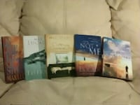 five assorted books