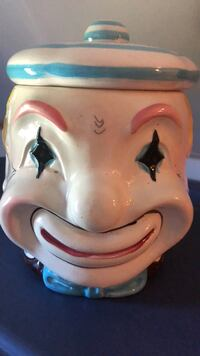 Antique Clown Cookie Jar Smith-Ennismore-Lakefield, K0L