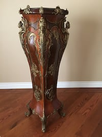 Antique marble top wood stand Toronto, M9R 3E3