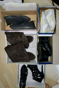 Assorted womens shoes size 5 to 6.5
