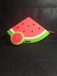 Kate Spade Watermelon Clutch and matching change purse FREDERICK